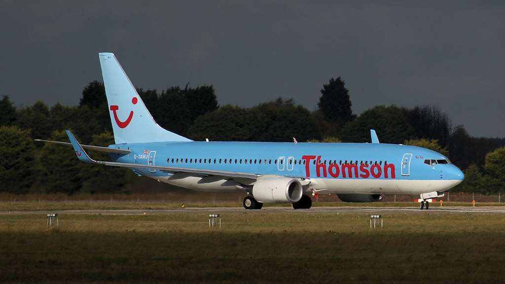Thomson Airways 737-800 G-TAWJ.<br /> By Jim Calow.