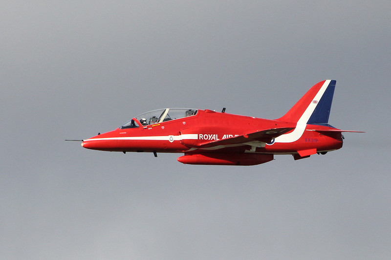 'Red 10' Hawk T1A XX319.<br /> By Clive Featherstone.
