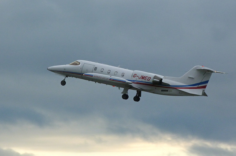 Air Medical Fleet, Learjet 35A G-JMED.<br /> By Clive Featherstone.