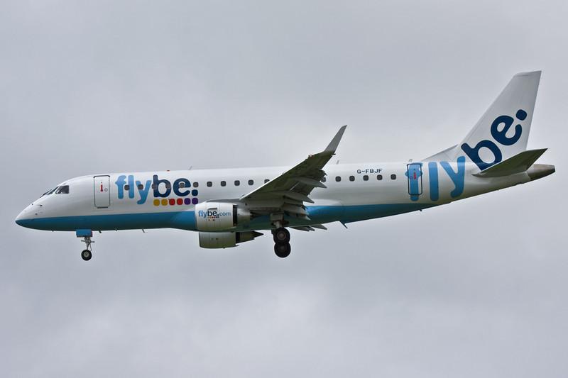 Flybe Embraer ERJ-175STD G-FBJF.<br /> By David Bladen.