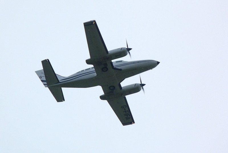 Cessna 404 Titan II G-FIFA.<br /> By Clive Featherstone.