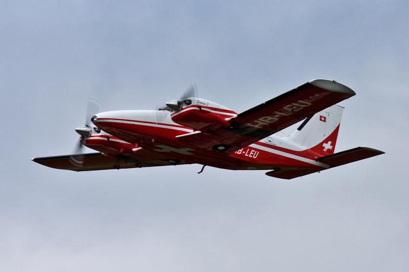 Gribair AG, Piper PA-34-200 Seneca HB-LEU.<br /> By David Bladen.