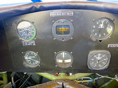 Just the basic gauges. All flight controls are in the rear seat.