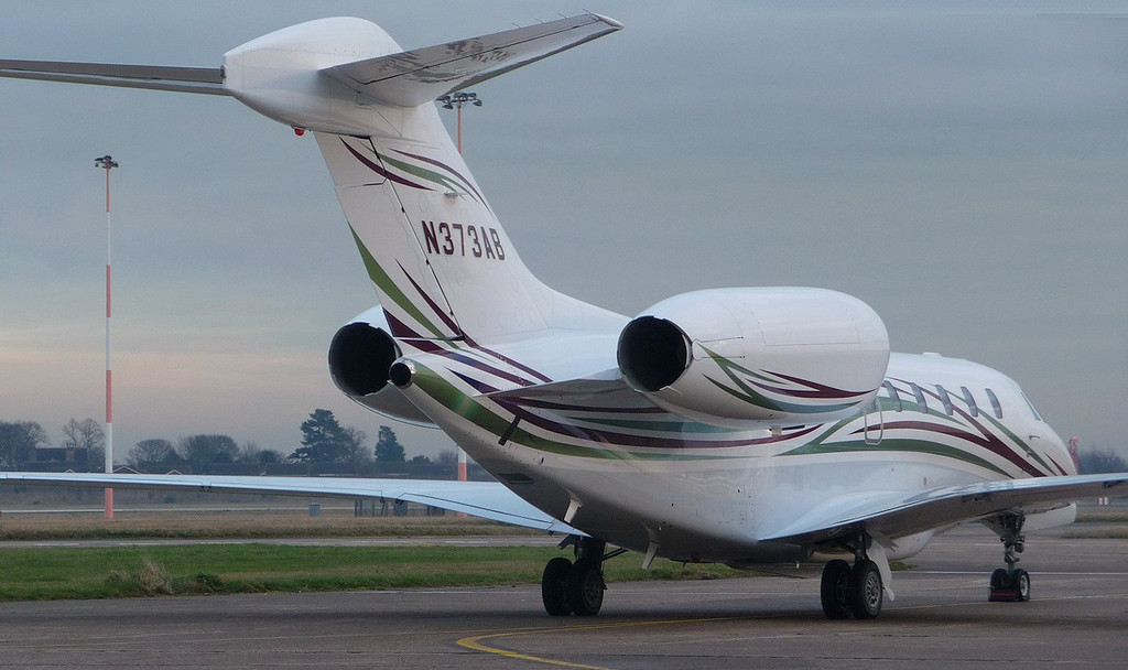 Cessna 750 Citation X N373AB waiting for air test slot<br /> By Correne Calow.