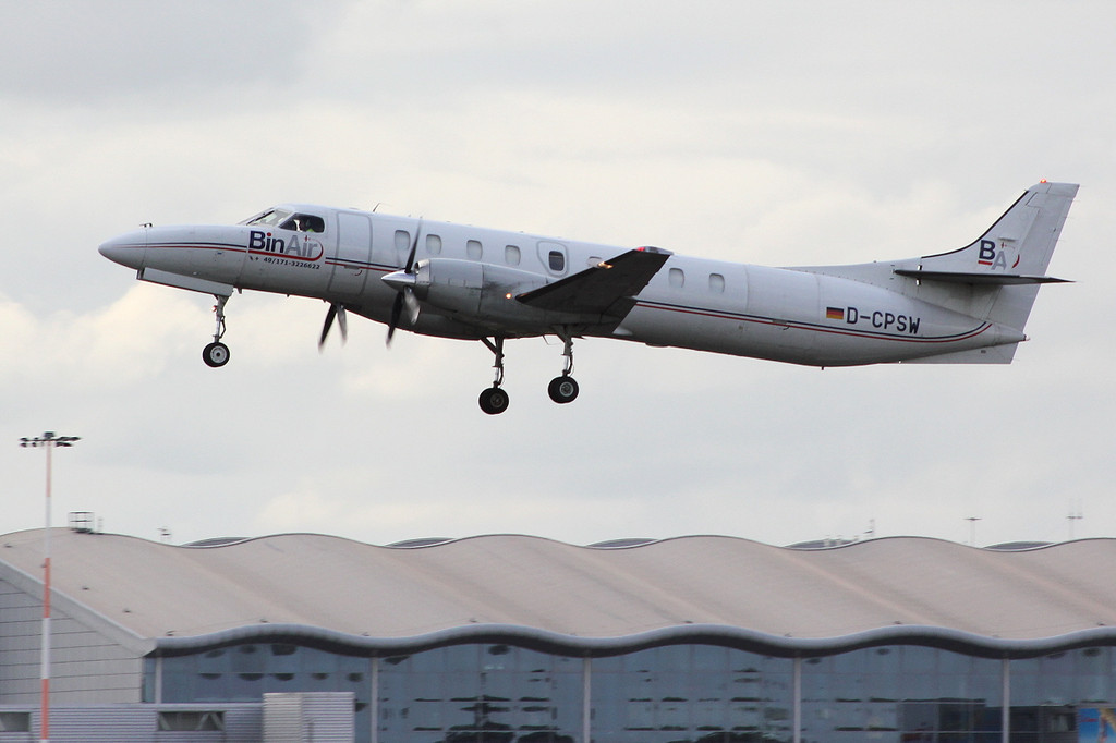 BinAir Swearingen SA-227AC Metro III, D-CPSW departs with cargo<br /> By Clive Featherstone.