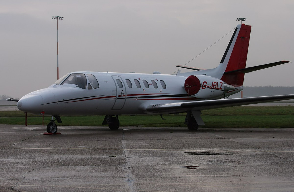 Cessna 550B Citation Bravo G-JBLZ <br /> By Correne Calow.