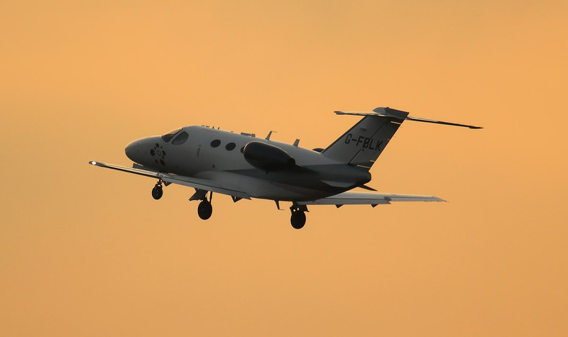 Cessna 510 Mustang, G-FBLK.<br /> By Jim Calow.