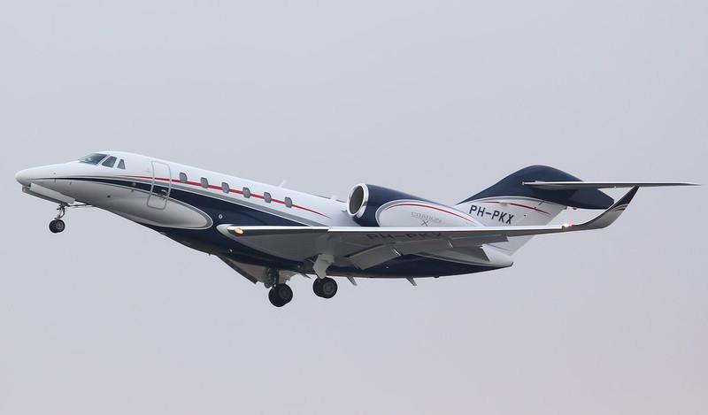 Cessna 750 Citation X  PH-PKX.<br /> By Jim Calow.