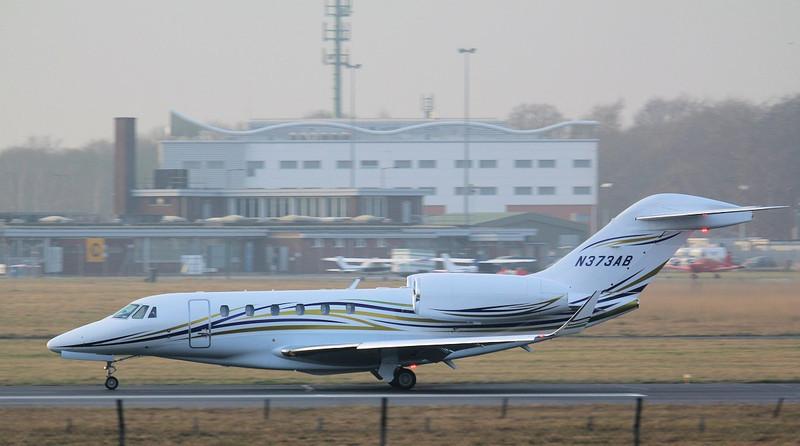 Cessna 750 Citation X  N373AB.<br /> By Jim Calow.
