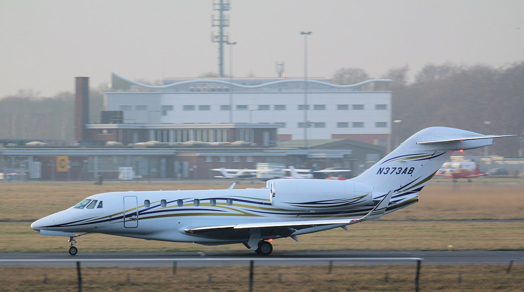 Cessna 750 Citation X  N373AB.<br /> By Jim Calow.