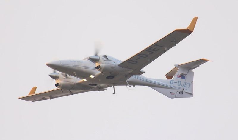Diamond DA-42 Twin Star, G-DJET.<br /> By Jim Calow.