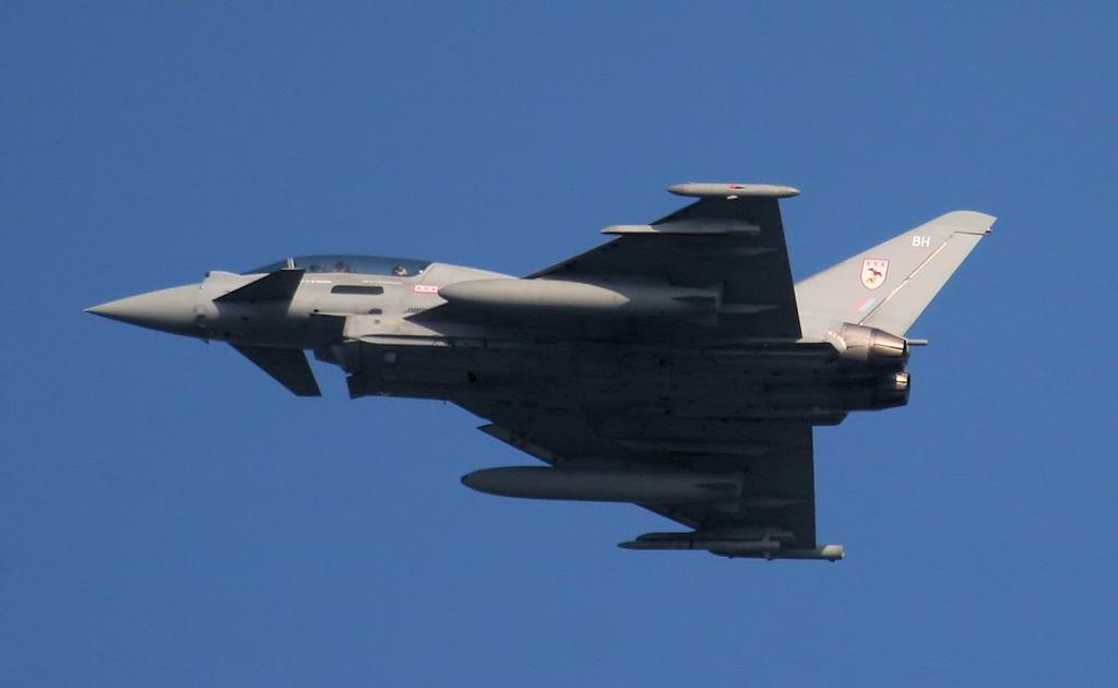 29Sqn Typhoon T.3 ZJ814/BH.<br /> By Jim Calow.