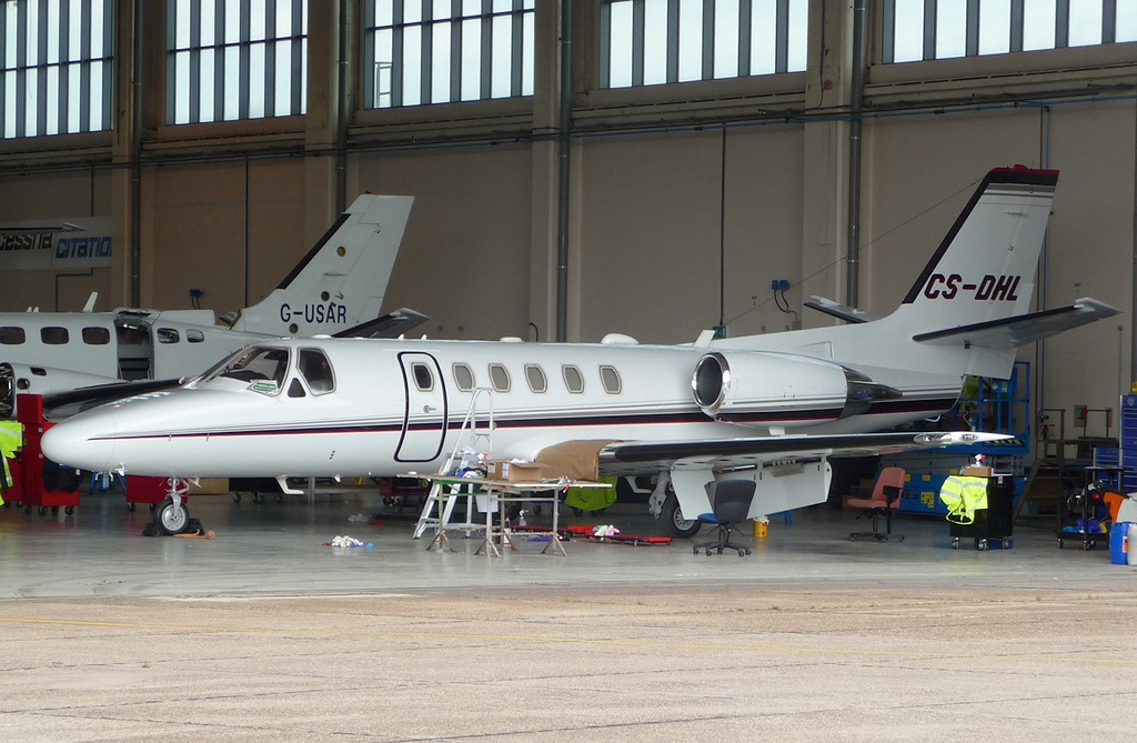 Now sporting a fresh coat of paint........Netjets Europe, Cessna 550B Citation Bravo, CS-DHL<br /> By Correne Calow.