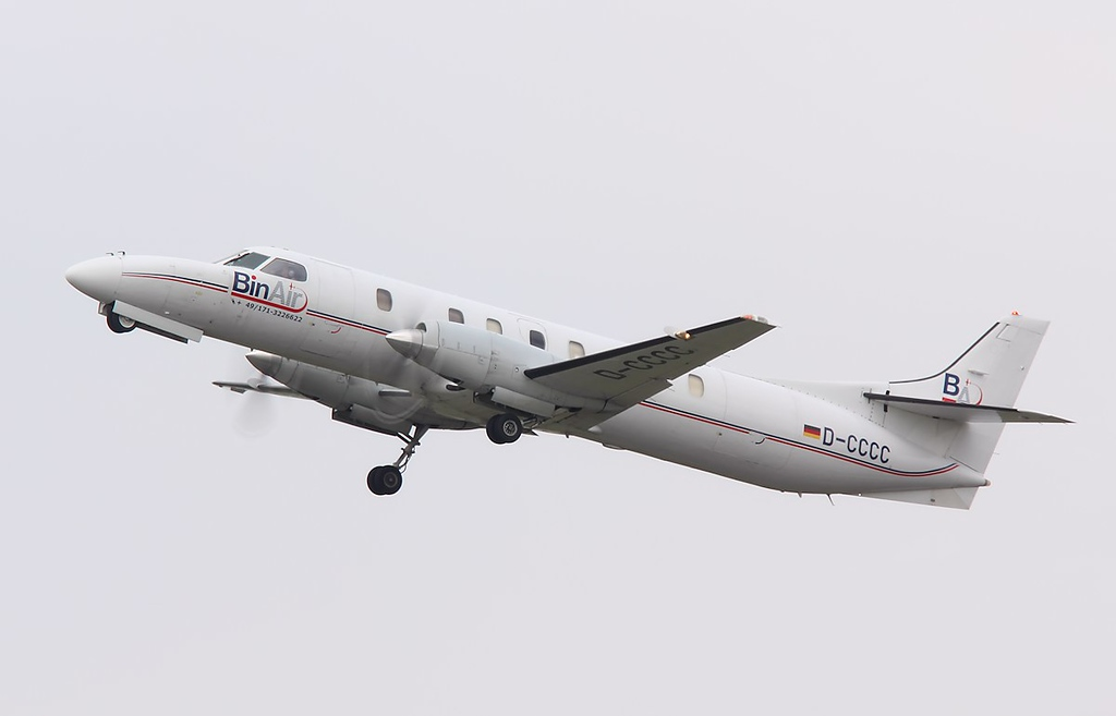 Bin Air, Fairchild Swearingen SA-227AT Merlin IVC, D-CCCC<br /> By Jim Calow.
