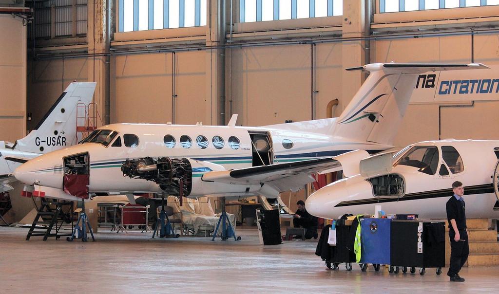 Beech 200 Super King Air, G-IASM.<br /> By Correne Calow.