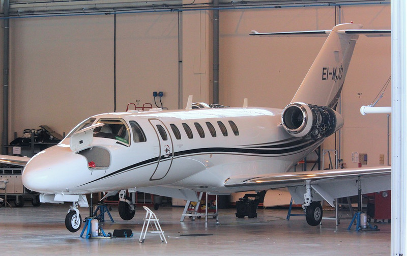 Munster Jet, Cessna 525 CitationJet CJ3, EI-MJC.<br /> By Correne Calow.