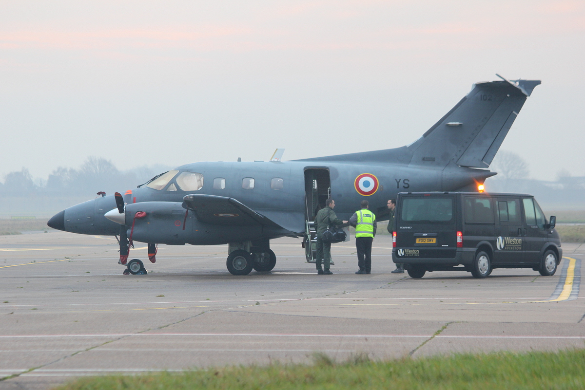 French Air Force Embraer EMB-121AA Xingu, 102/YS<br /> By Clive Featherstone.
