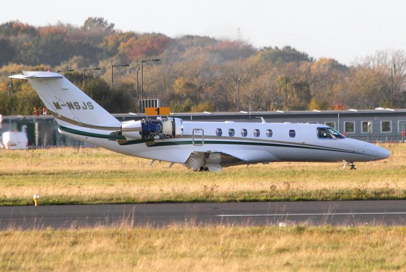 Cessna 525C CitationJet CJ4, M-NSJS<br /> By Clive Featherstone.