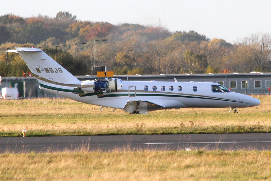 Cessna 525C CitationJet CJ4, M-NSJS<br /> By Clive Featherstone.