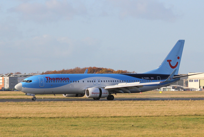 Thomson Airways 737-800, G-TAWL<br /> By Clive Featherstone.