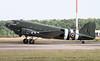 BBMF C-47 Dakota, ZA947 taxis towards stand 16.<br /> By Jim Calow.