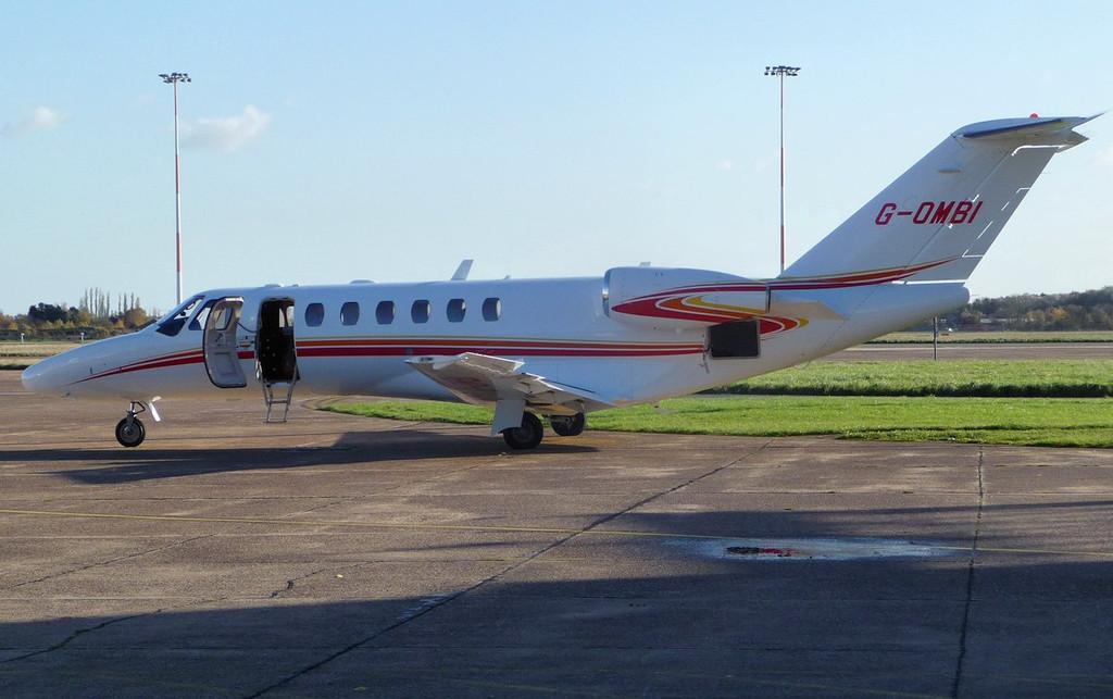 Cessna 525B CitationJet CJ3, G-OMBI<br /> By Correne Calow.