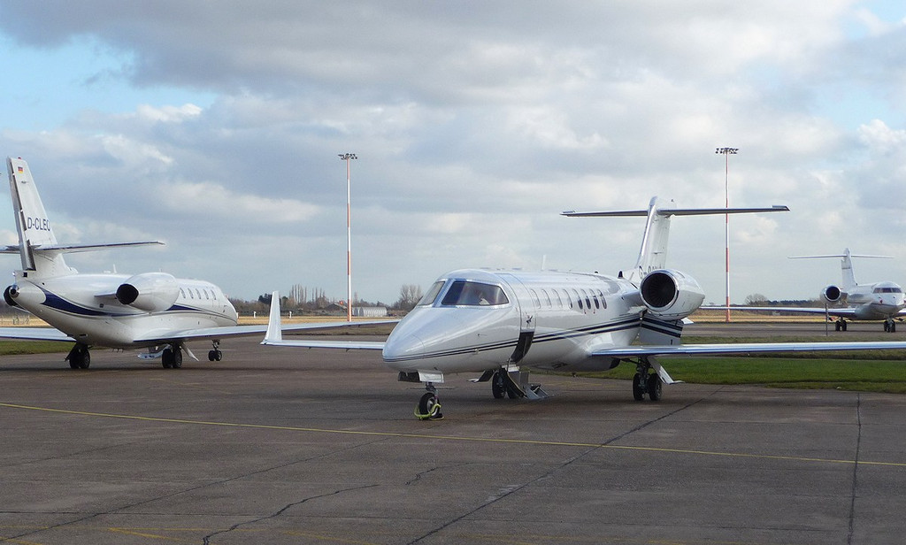 Air X Cessna 680 Citation Sovereign D-CLEO, Learjet 45 G-OSRL, Global Express BD-700 N53GX<br /> By Correne Calow.
