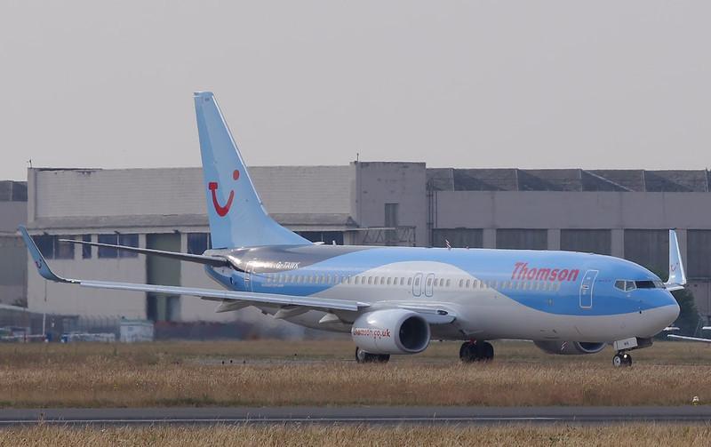 Thomson Airways 737-800, G-TAWK<br /> By Correne Calow.