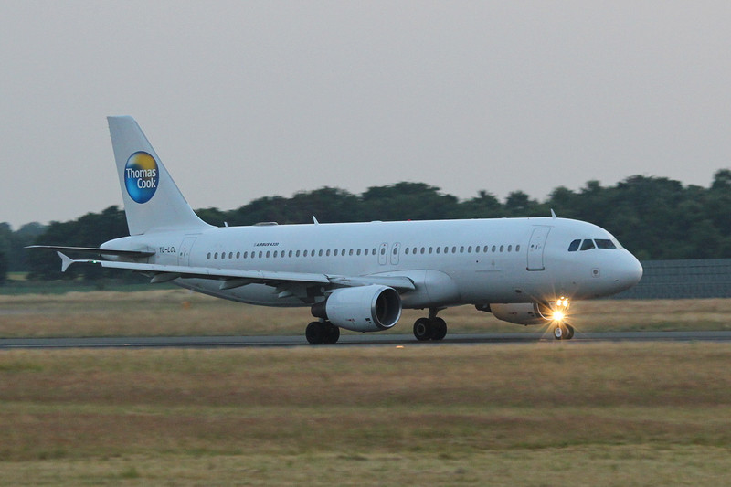 Thomas Cook A320, YL-LCL<br /> By Clive Featherstone.
