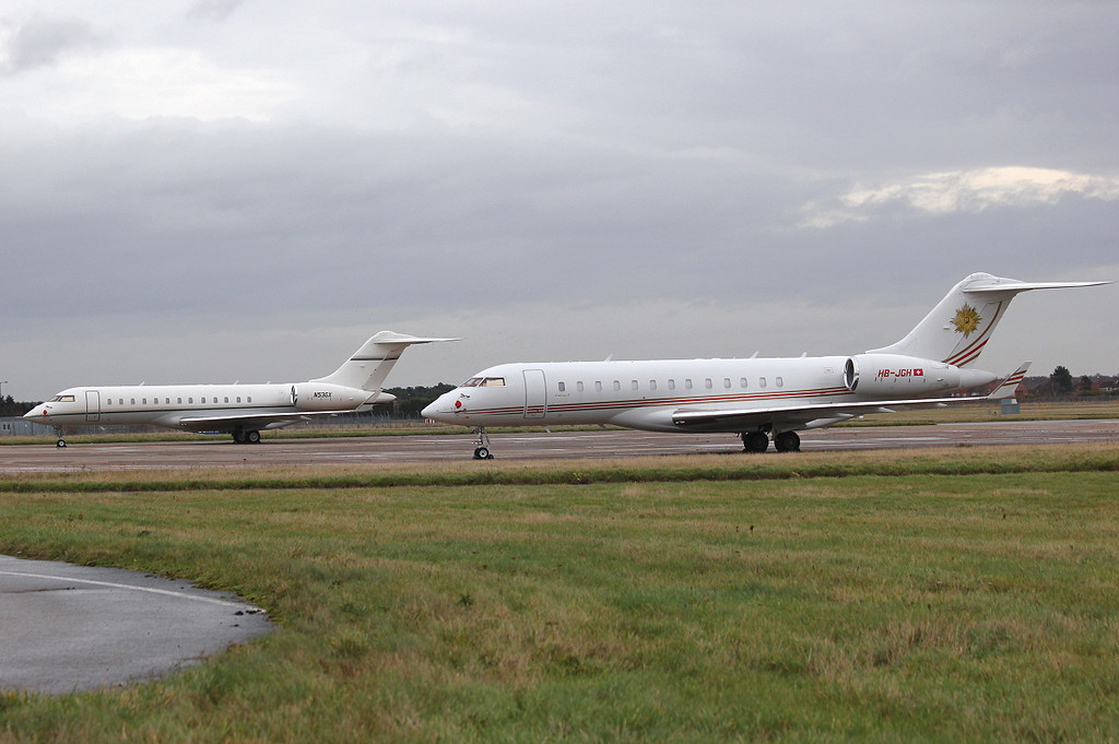 BD-700-1A10 Global Express, N53GX & HB-JGH<br /> By Clive Featherstone.