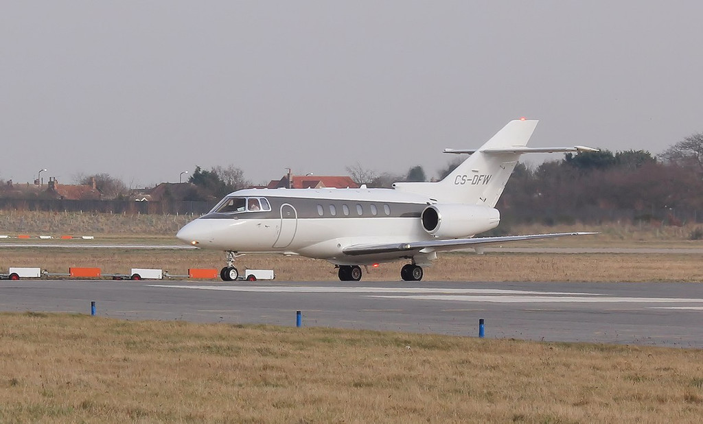Netjets Europe Raytheon Hawker 800XP (cn 258664), CS-DFW<br /> By Correne Calow.