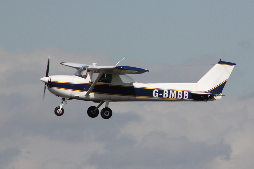 Based Cessna 150 G-BMBB.<br /> By Clive Featherstone.