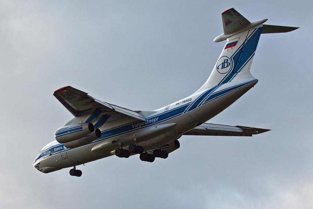 Volga Dnepr Ilyusin Il-76-TD-90VD RA-76503.<br /> By David Bladen.