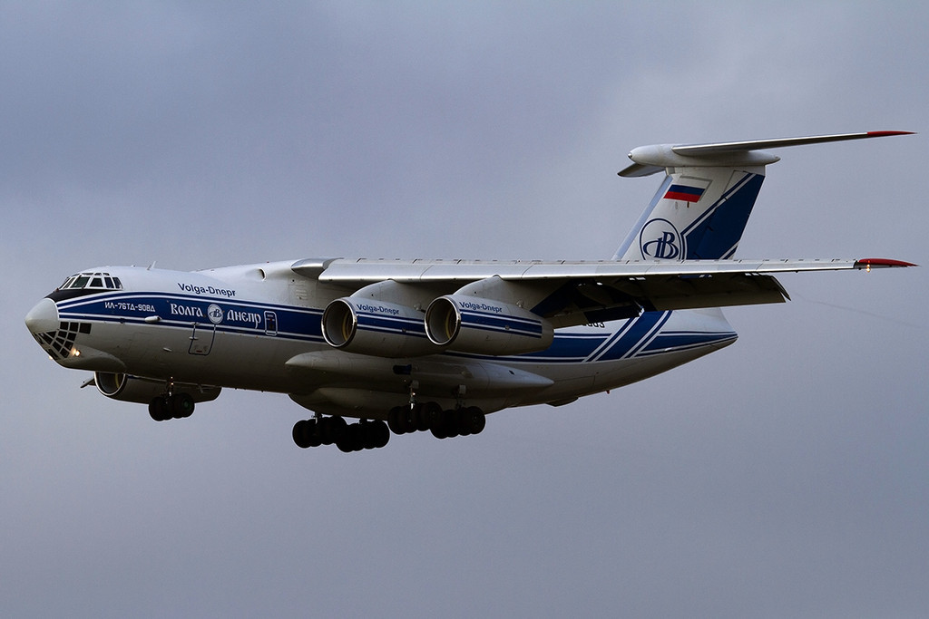 Volga Dnepr Ilyusin Il-76-TD-90VD RA-76503.<br /> By Tony Lowther.