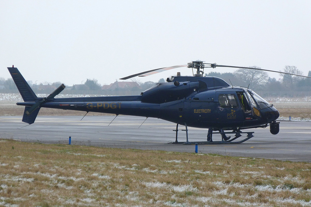 PDG Helicoptors, Inverness   AS355 Twin Squirrel G-PDGT <br /> By Clive Featherstone.