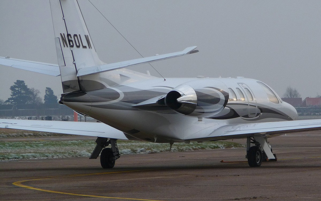 Cessna 550 Citation Bravo N60LW<br /> By Correne Calow.