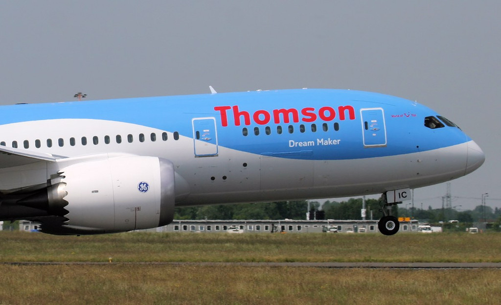 G-TUIC 'Dream Maker' lifts off for Shannon.<br /> By Jim Calow.