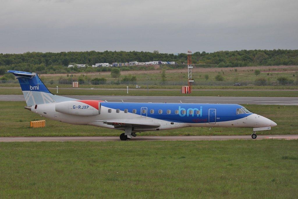 BMI Regional Embraer-135, G-RJXP <br /> By Steve Roper.