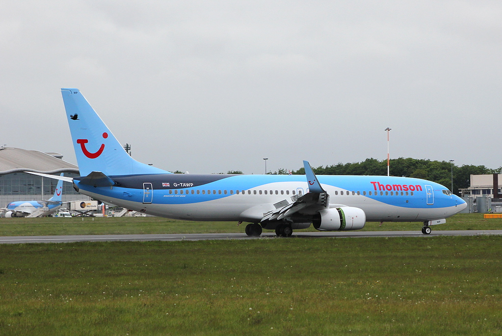 Thomson Airways B737-800, G-TAWP<br /> By Clive Featherstone.