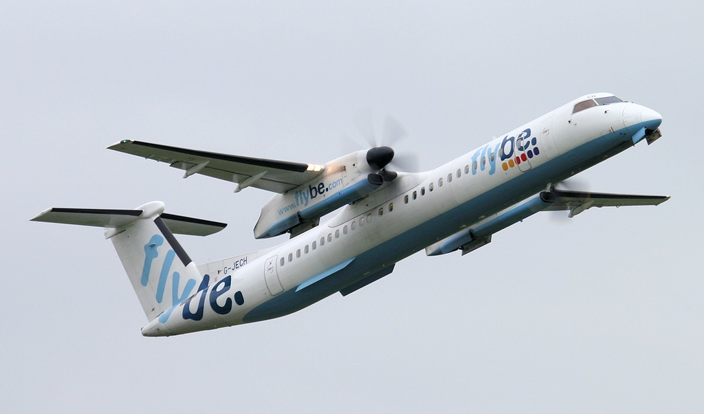 Flybe DHC-8-400 G-JECH.<br /> By Jim Calow.