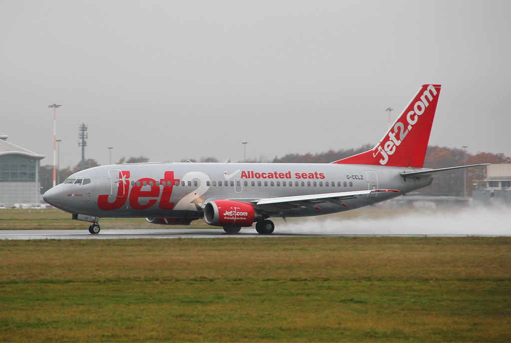 Jet2 737-300 G-CELZ.<br /> By Clive Featherstone.