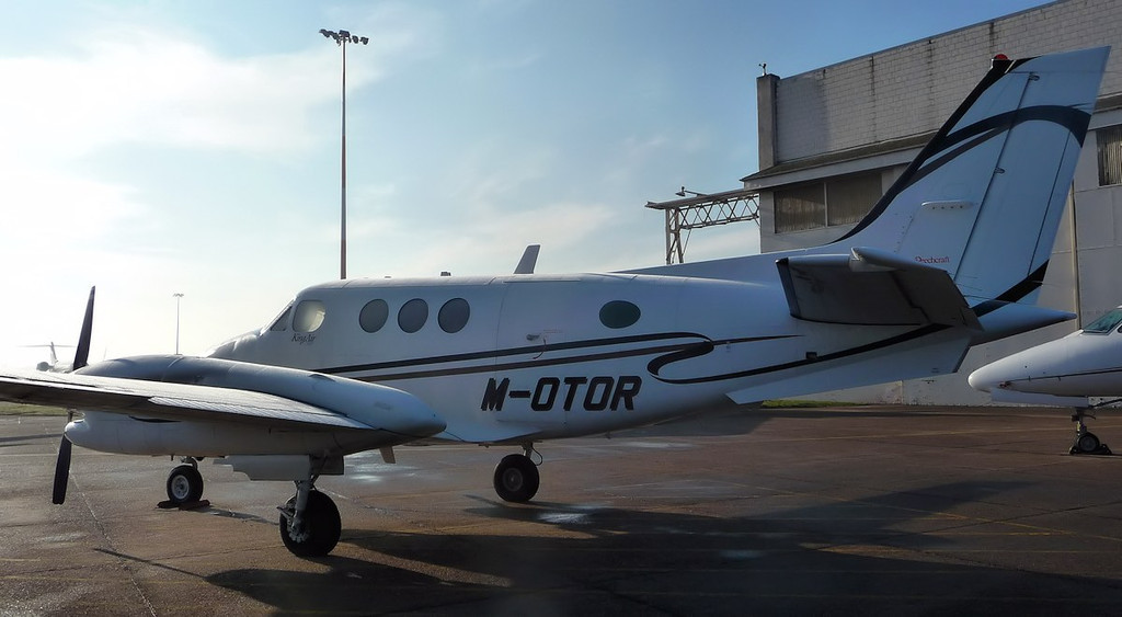 Beech C90B King Air,  M-OTOR<br /> By Correne Calow.