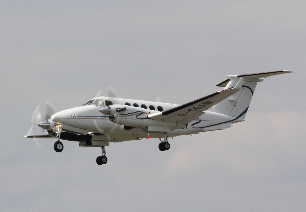 Beech B200 Super King Air Blackhawk XP,  G-CGAW departed to Southend<br /> By Correne Calow.