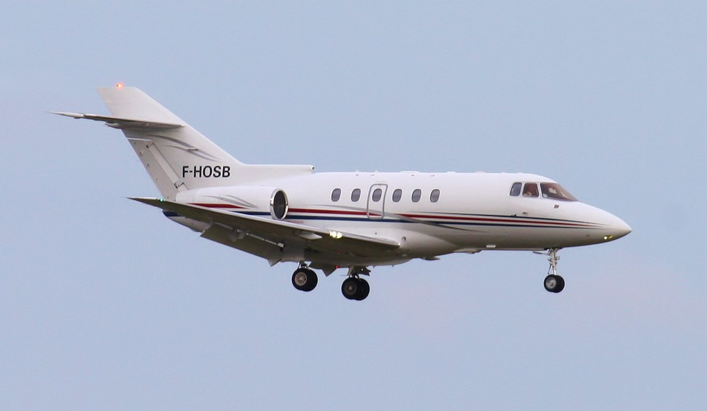 Hawker 750XP F-HOSB.<br /> By Jim Calow.