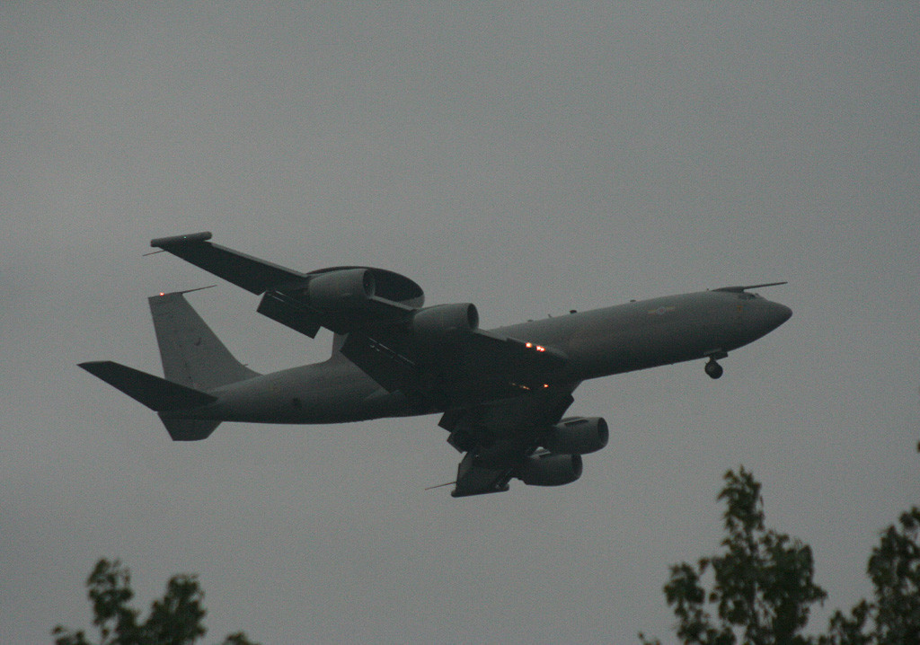 E-3D ZH103 makes a very low approach over Bawtry.<br /> By Graham Vlacho.