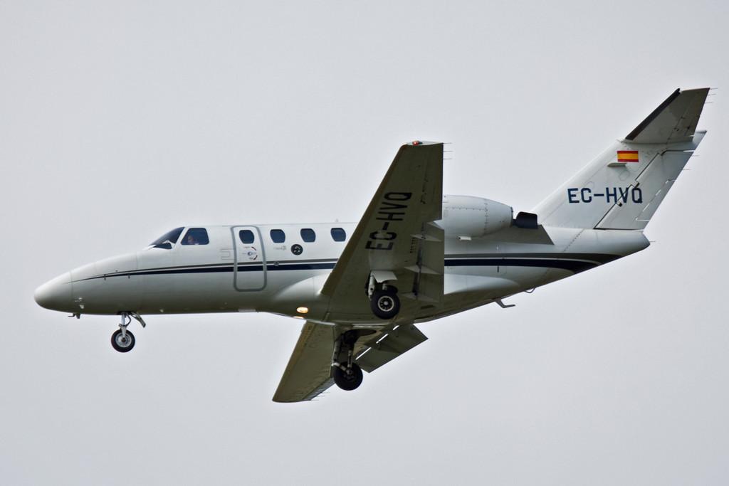 Sky Service Aviation, Cessna 525 CitationJet, EC-HVQ.<br /> By David Bladen.