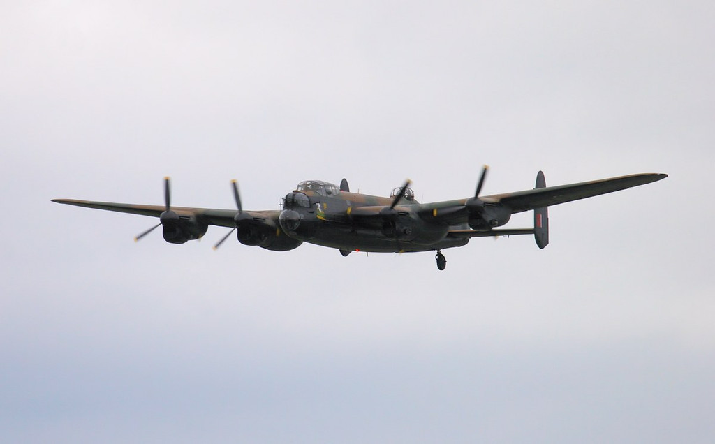 BBMF Lancaster PA474.<br /> By Jim Calow.