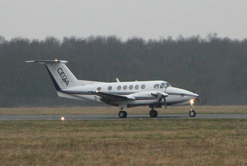 Cega Air Ambulance, Beech 200 Super King Air, G-CEGP.<br /> By Clive Featherstone.