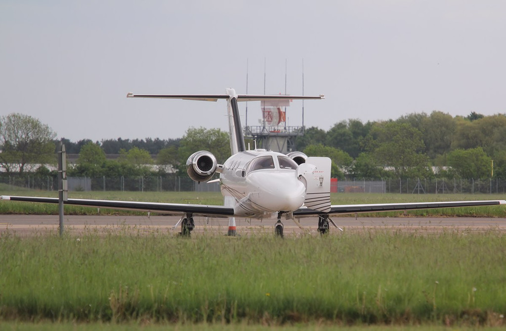 Jetnova de Aviacion Ejecutiva, Cessna 510 Citation Mustang, EC-LDK picked up fuel whilst parked on stand<br /> By Correne Calow.