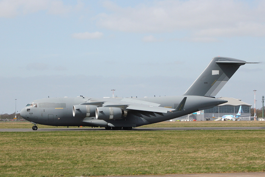 United Arab Emirates Air Force C-17 1226.<br /> By Clive Featherstone.